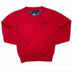 Paul Smith Boys Long Sleeve Red Knit Pullover